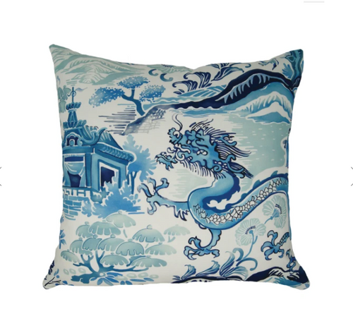 Blue Gardens of Chinoise Pillow 22""
