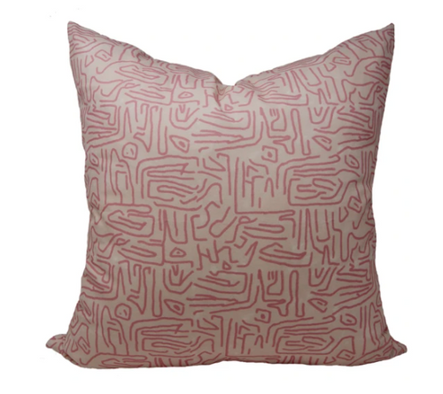 "Ritual Pink Pillow 22"""