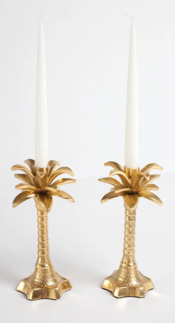 2 Piece Palm Leaf Candle Holders