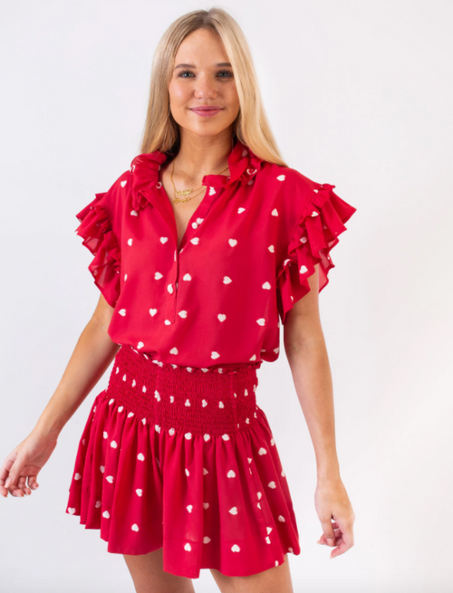 Red Hearts Erica Skort