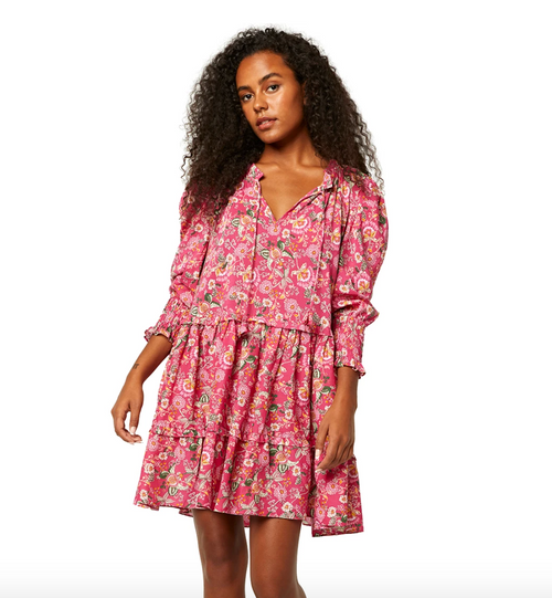 Maya Dress in Pink Falaise Floral
