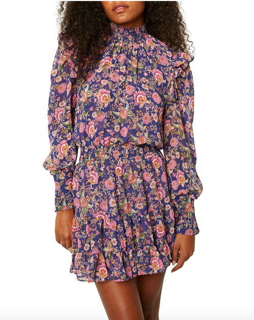 Gianna Dress in Navy Falaise Floral