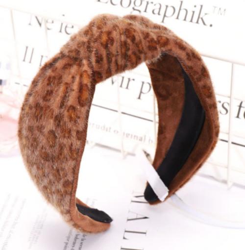 Phoenix Dark Leopard Headband
