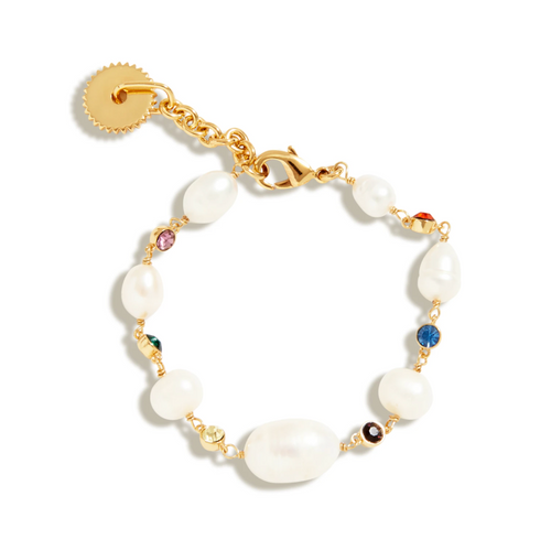 Lyford Mixed Rainbow Pearl Bracelet
