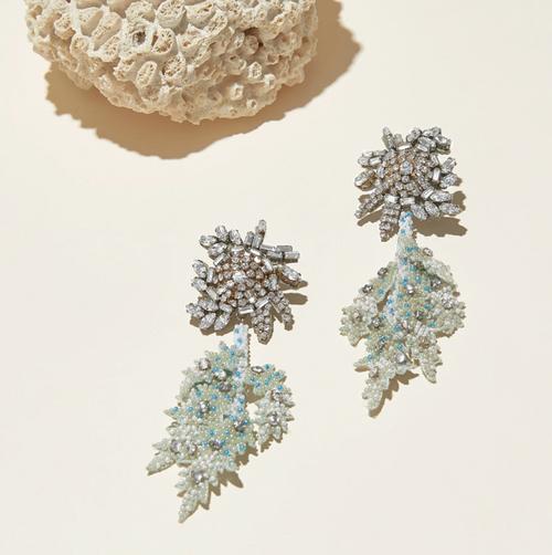 Lila Fern Earrings Mint