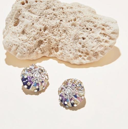 Sea Urchin Stud Earring