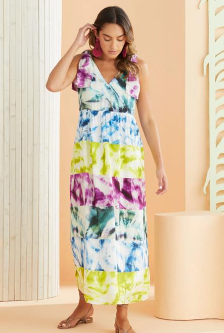 Gigi Maxi Dress in Tie Dye Mix