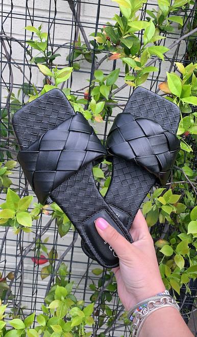 Braided Square Toe Sandal