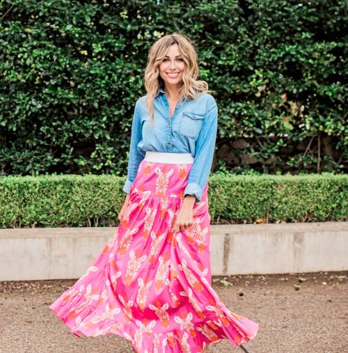 Tiffany Skirt in Hot Pink Zebra