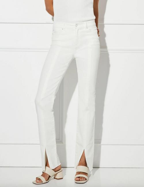 Robertson Slit Front White Jean