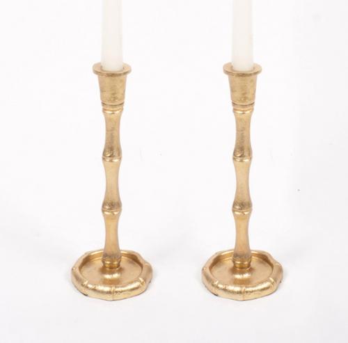 2 Piece Gold Candlesticks