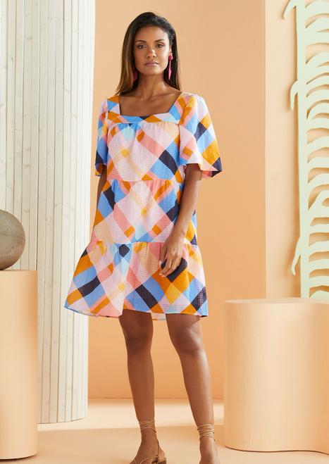 Kaylee Dress in Plaid