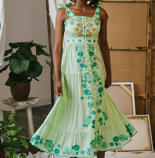 Canela Dress in Green