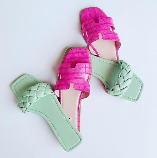 Mint Braided Sandal
