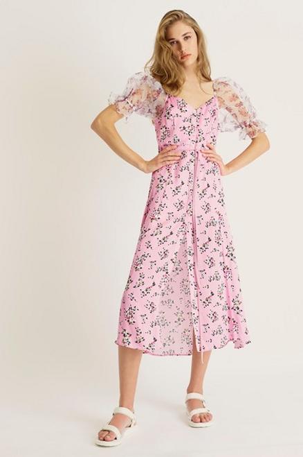 Elitan River Daisy Drape Dress