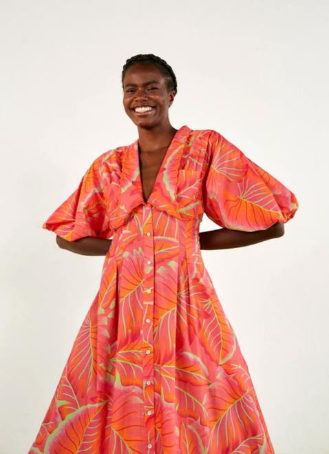 Bright Forest Midi Dress