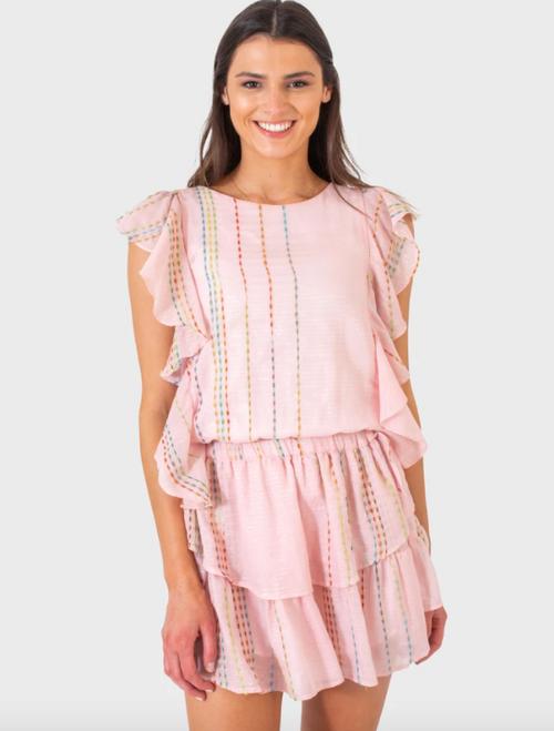 Madison Dress in Rainbow Shimmer