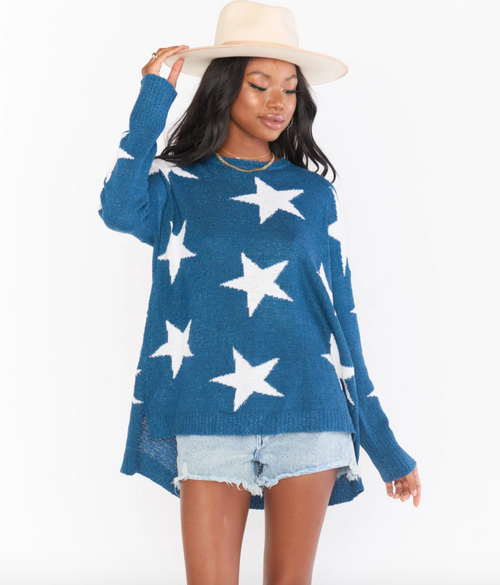 Bronson Sweater in Star Tossed Knit