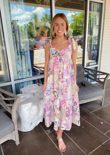 Kingsley Dress in Pink Multi