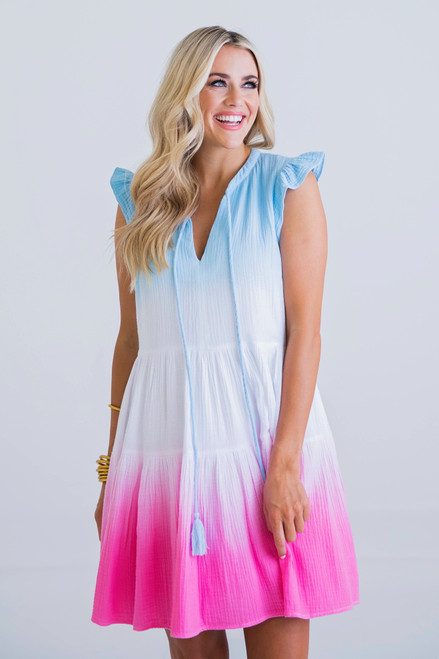 Summer Tie Dye Gauze Dress