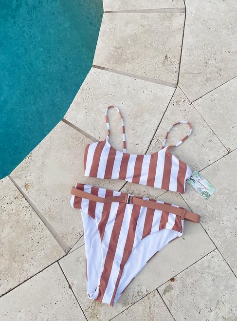 Carter Stripe Swim Set