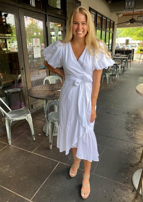 Jessey Wrap Midi Dress