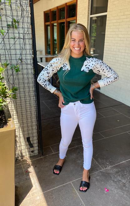 Emerald Leopard Sweater