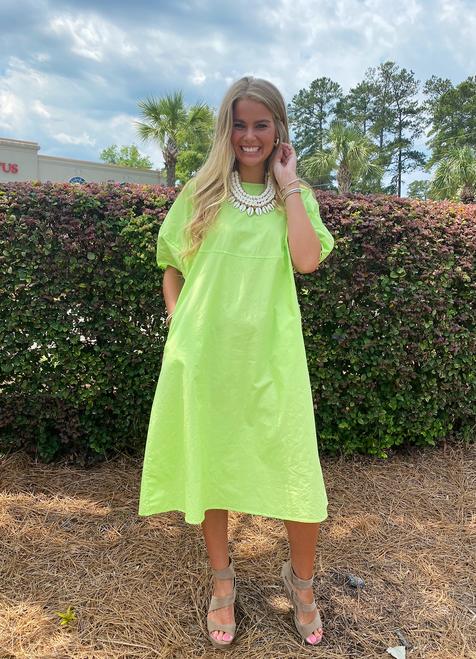 Jean Dress in Lime