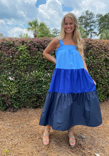 Blue Trio Dress