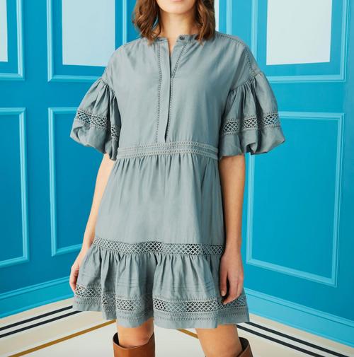 Jade Dress in Bluestone