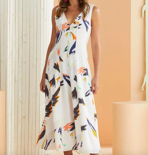 Nahla Dress in Impressionist Floral