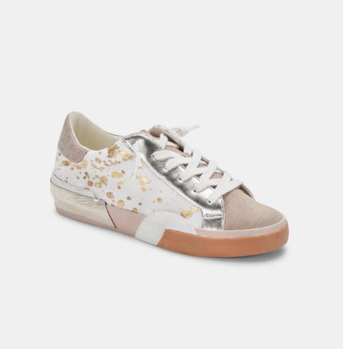 Zina Sneakers in Silver Gold Metallic