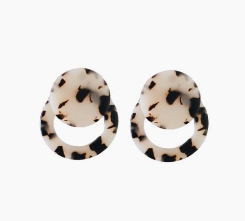Knightsbridge Blonde Tortoiseshell Doorknocker Earrings