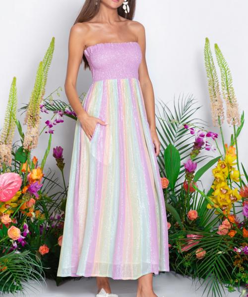 Estela Long Dress in Marbella Mix