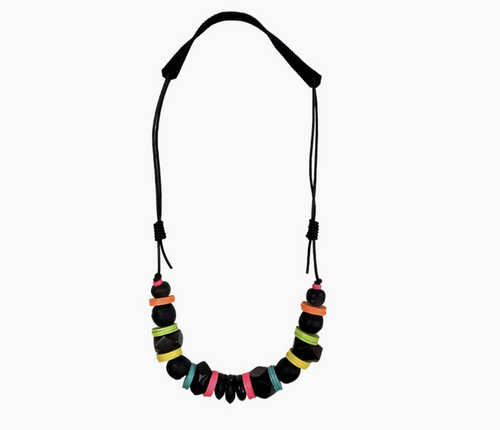 Cord Classic Necklace in Electric Black