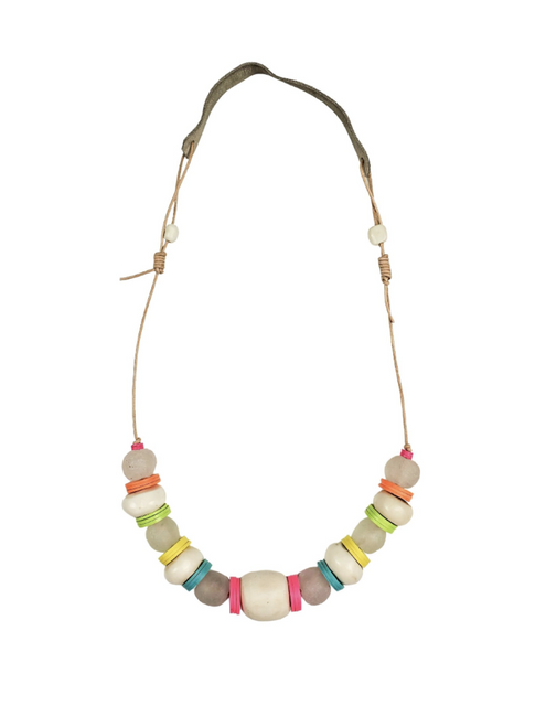 Cord Classic Necklace in Electric White