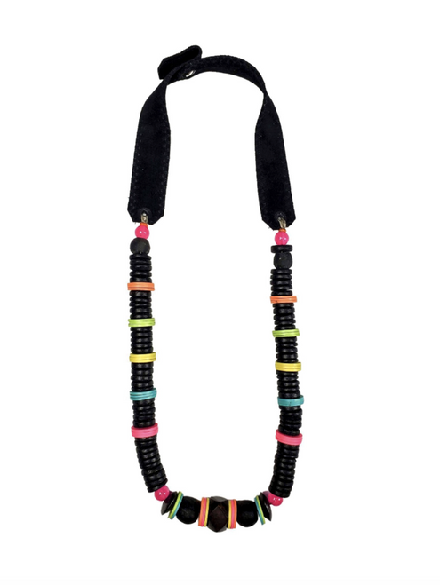 Electric Black Stacked Classic Necklace