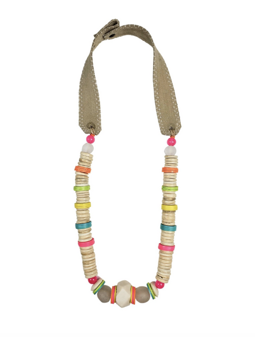 Electric White Stacked Classic Necklace