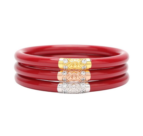 Red Three Kings All Weather Bangles 3 Pack