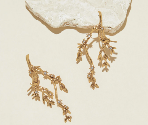 Karis Vine Lux Earrings in Gold