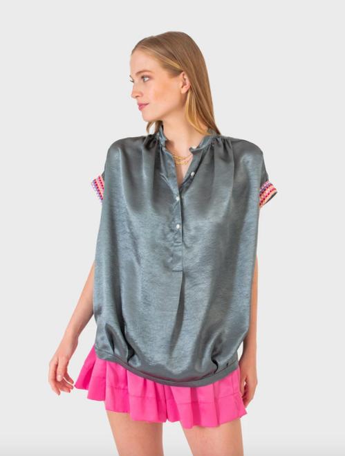Fern Top in Slate Pearl