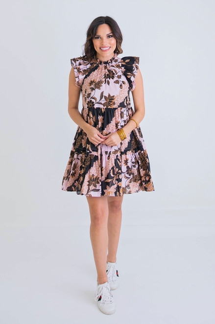 Chocolate Ruffle Tier Ruffle Dress