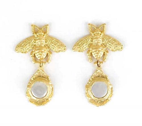 Bumblebee and Pearl Earring
