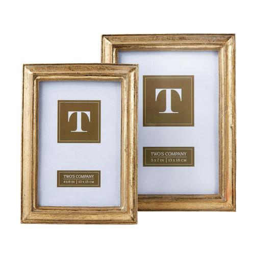 Gold Leaf Frame Simple 4x6