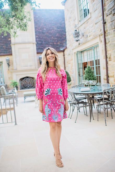 Madison Dress in Pink Tiger
