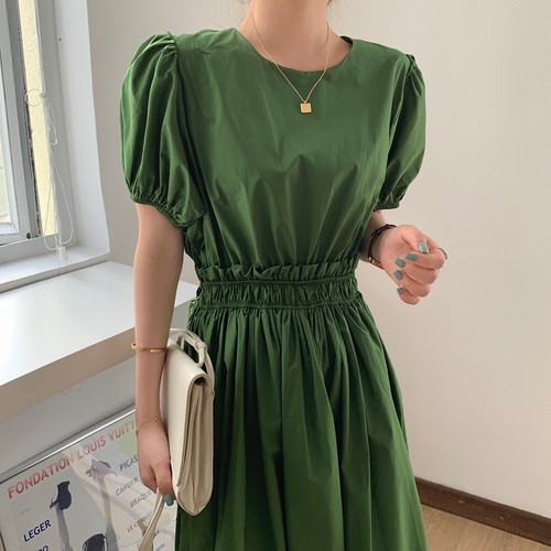 Cinched Waist Midi Dress