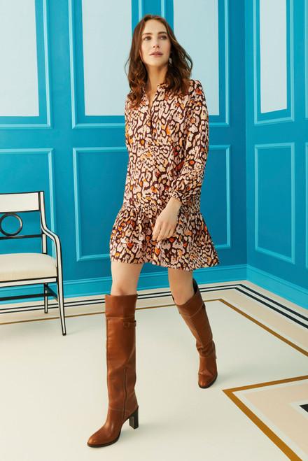 Retta Dress in Jaguar Spice