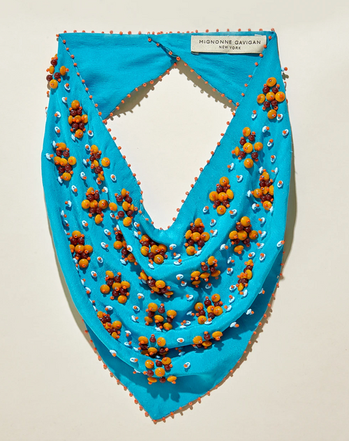 Adele Scarf Necklace in Turquoise