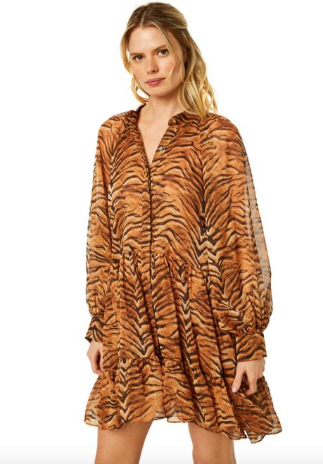 Lara Dress in Tigresse Chiffon