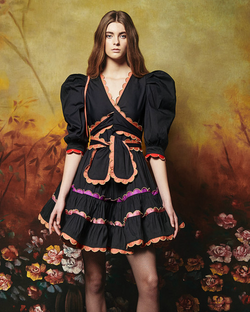 Sapin Dress in Black